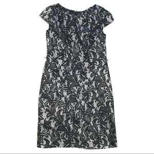 Alyx Petite 8P Sheath Above Knee Lace Dress